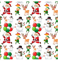 seamless pattern of christmas vector image