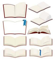 set of blank book vector image