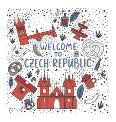 set of of czech republic vector image