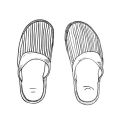 Sketch of slippers vector