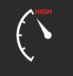 speedometer tachometer fuel low level icon flat vector image
