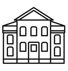 street courthouse icon outline style vector image