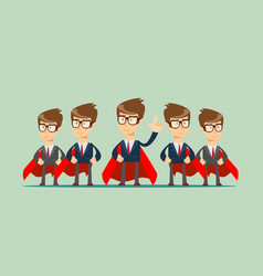 super business team vector image