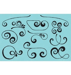 Swirls set vector