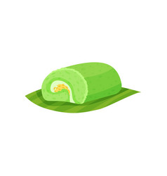 tasty indonesian dessert with sweet filling vector image