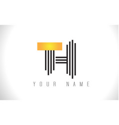 Th black lines letter logo creative line letters vector
