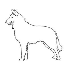 The dark belgian wolf belgium single icon in vector