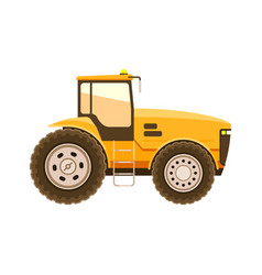Tractor heavy technique isolated on white vector
