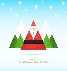 triangular santa claus christmas celebration vector image