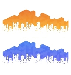 urban landscape real estate vector image