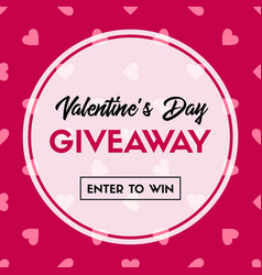 Valentines day giveaway banner template vector