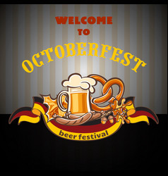 welcome to octoberfest concept background cartoon vector image