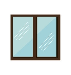 windows house isolated icon vector image