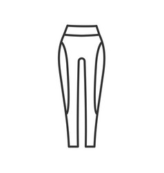 Womens sports pants linear icon vector