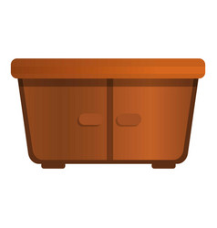 wood nightstand icon cartoon style vector image