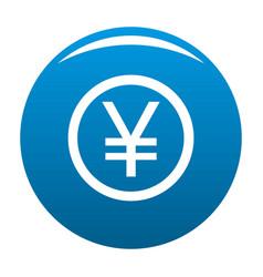 yen symbol icon blue vector image