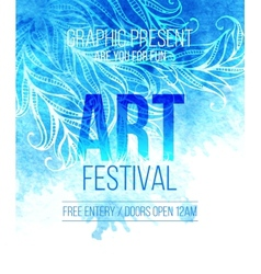 Art festival Template poster vector image vector image