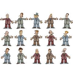 businessmen set vector image vector image