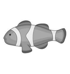 clown fish icon monochrome vector image