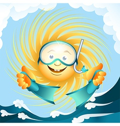 diving sun vector image vector image