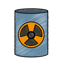 nuclear barrel icon vector image