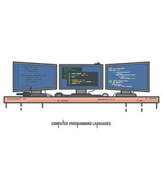 programming languages concept vector image