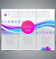 Business emplate leaflet page design vector image vector image