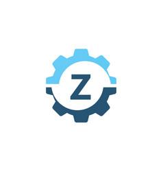 gear solution logo initial z vector image vector image