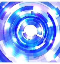 Shining blue circle tunnel vector image vector image