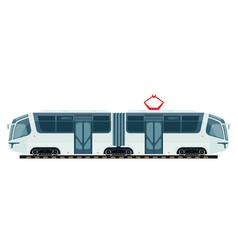 tram public transport or tramcar modern vector image