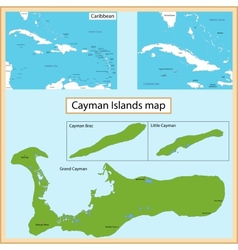 Cayman Islands map vector image
