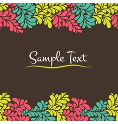 Colorful abstract seamless frame vector image vector image