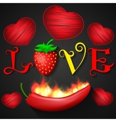 love design over black background vector image