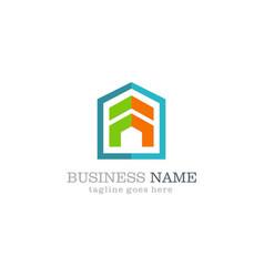 shape construction logo design vector image