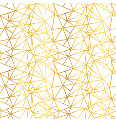 white and gold foil wire geometric mosaic vector image vector image