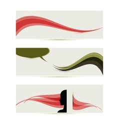banner templates vector image vector image