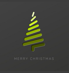 Modern christmas tree made from lines vector