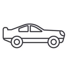 retro racing car line icon sig vector image