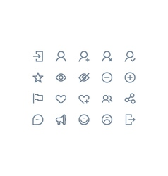 Social and communication icons vector image