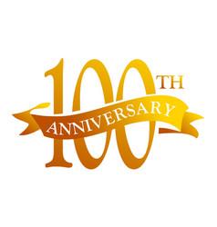 100 year ribbon anniversary vector image