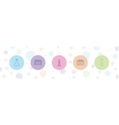 5 laboratory icons vector