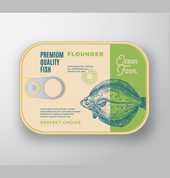 abstract flat fish aluminium container with vector image