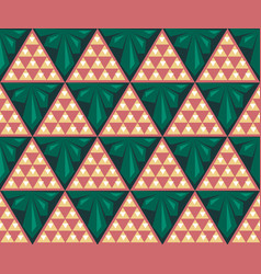 abstract triangles color seamless pattern vector image