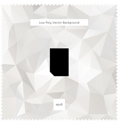 abstract white polygonal background vector image