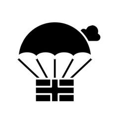 aerostat black icon concept vector image