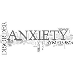 Anxiety disorder and changed lives text word vector