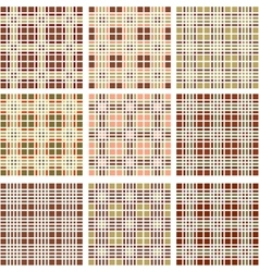 Background of retro plaid pattern vector image