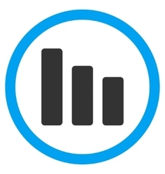 Bar Chart Decrease Flat Rounded Icon vector