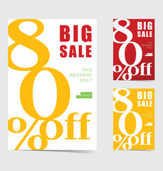 big sale weekend poster set vector image