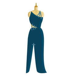 blue dress in making vector image